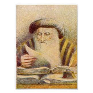 Rashi - Rabbi Solomon Yitzchaki Art Photo