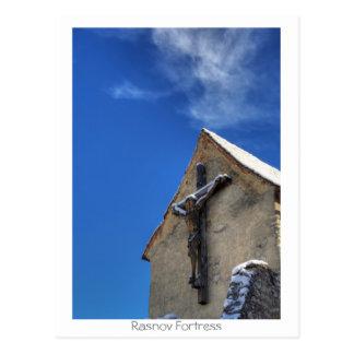 Rasnov fortress postcard