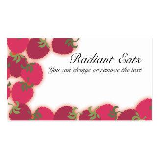 raspberries glow fruit baking baker cooking bus... pack of standard business cards