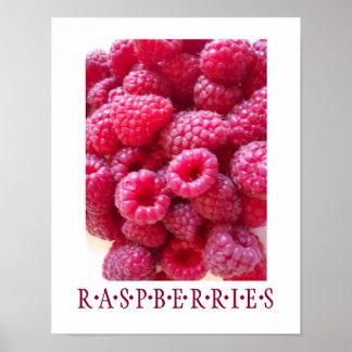 Raspberries Kitchen Art Poster