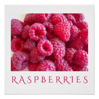 Raspberries Kitchen Art Poster for Home Decor