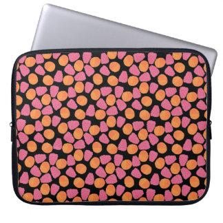 Raspberries, Tangerines on Bright Turquoise Blue Laptop Computer Sleeves