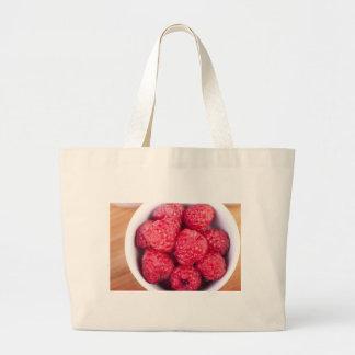 Raspberries Jumbo Tote Bag