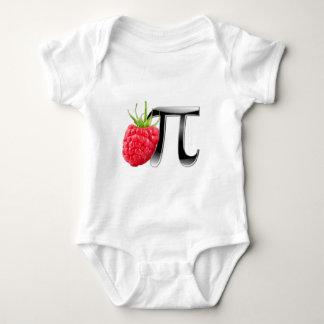 Raspberry and Pi symbol Baby Bodysuit