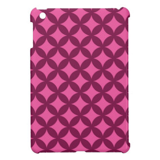 Raspberry and Pink Geocircle Design Cover For The iPad Mini