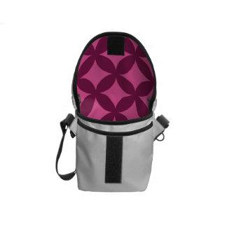 Raspberry and Pink Geocircle Design Messenger Bag