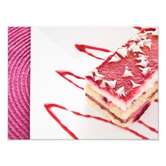 Raspberry Cake Dessert Photo Art