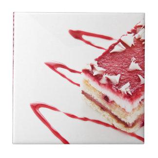Raspberry Cake Dessert Tiles