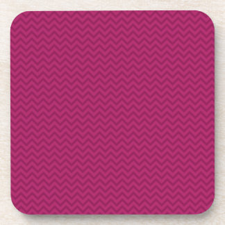 Raspberry Chevron Beverage Coasters