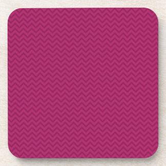Raspberry Chevron Coaster