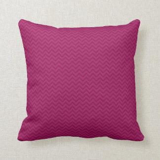 Raspberry Chevron Cushion