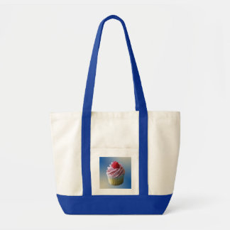 Raspberry Cupcake To Go Canvas Bags