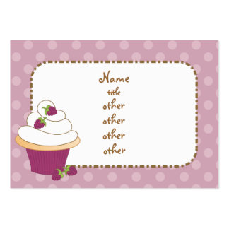 Raspberry Cupcakes Business Card Template