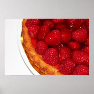 Raspberry flan dessert posters