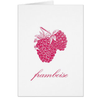 Raspberry (Framboise) Notecard Note Card