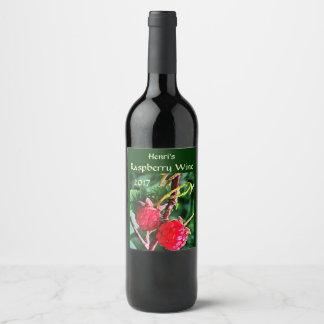 Raspberry Fruit Wine Label