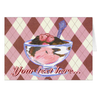 Raspberry Ice Cream Greeting Card