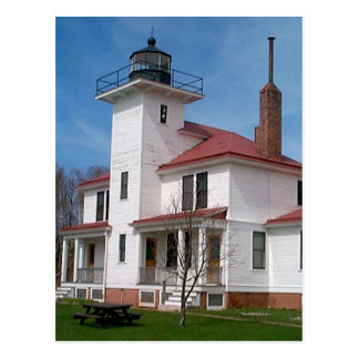 Raspberry Island Lighthouse (in Color) Postcard