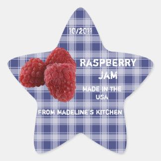 Raspberry Jam Jar Label (Customise)