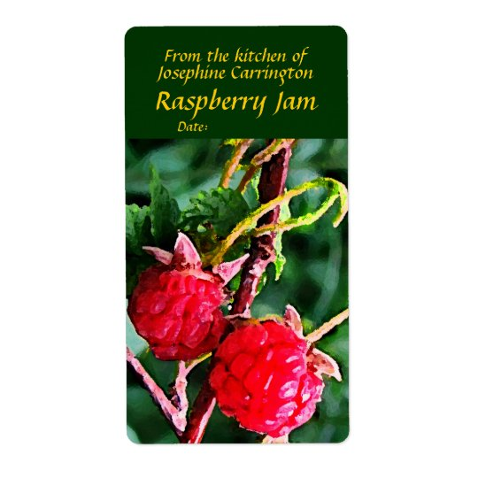 Raspberry Jam Labels