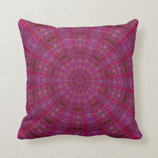 Raspberry Kaleidoscope Throw Pillow