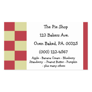 Raspberry Lemon Pie Colors Double-Sided Standard Business Cards (Pack Of 100)