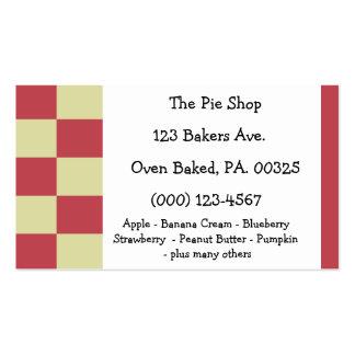 Raspberry Lemon Pie Colors Business Card