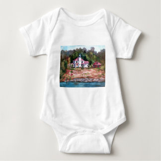 Raspberry Lighthouse Baby Bodysuit