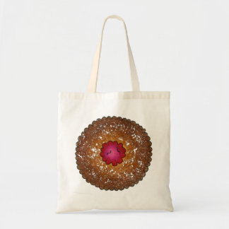 Raspberry Linzer Torte Christmas Cookie Tote Budget Tote Bag