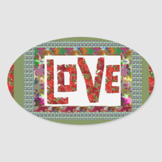 RASPBERRY Love :  Ideal Romantic Gift Oval Stickers