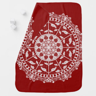 Raspberry Mandala Baby Blanket