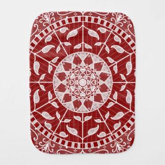 Raspberry Mandala Burp Cloth