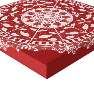 Raspberry Mandala Canvas Print