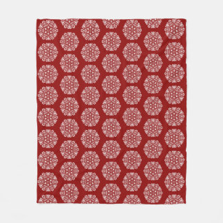 Raspberry Mandala Fleece Blanket