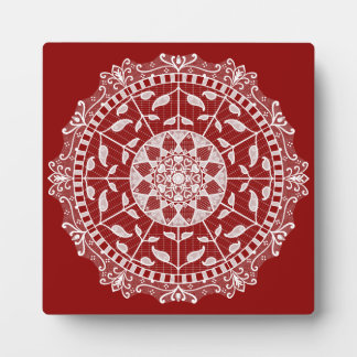 Raspberry Mandala Plaque
