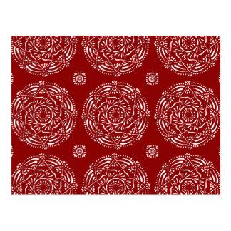 Raspberry Mandala Postcard