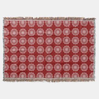 Raspberry Mandala Throw Blanket