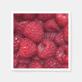 Raspberry Napkins Disposable Serviette