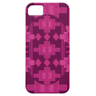 Raspberry Navajo pattern iphone 5 case