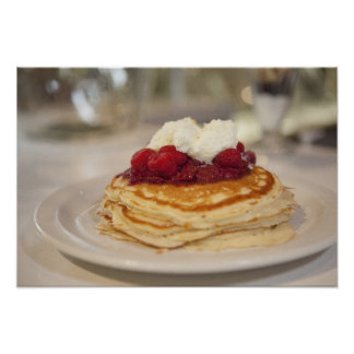 Raspberry pancakes poster