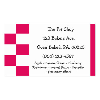 Raspberry Pie Colors Business Card