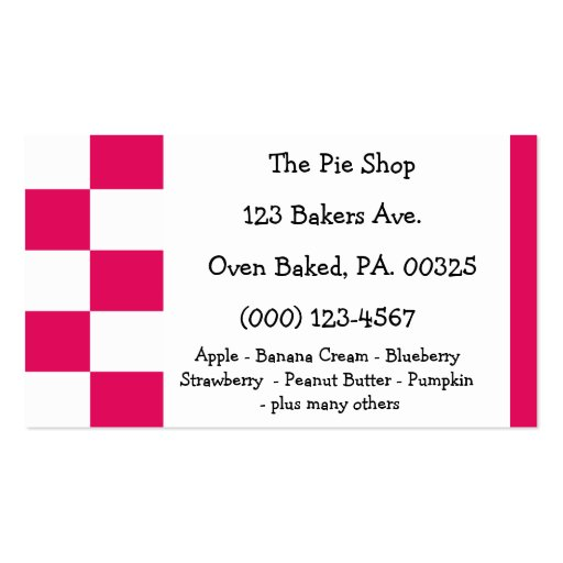 Raspberry Pie Colors Business Card
