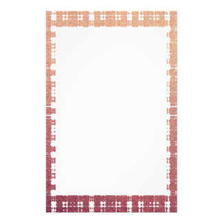 Raspberry Pink Blush Modern Plaid Netted Ombra Personalized Stationery
