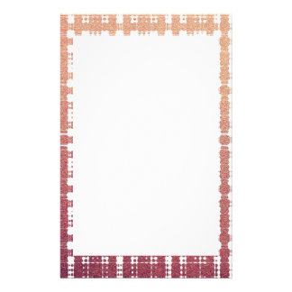 Raspberry Pink Blush Modern Plaid Netted Ombra Customised Stationery