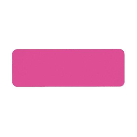 Raspberry Pink High Quality Colour Coordinating Return Address Label