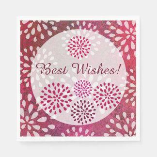Raspberry Pink Mums Flower Blossom Bridal Shower Disposable Serviette