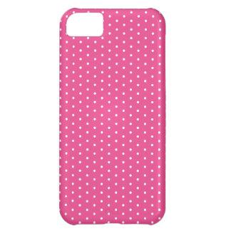 Raspberry Polka Dot iPhone iPhone 5C Case