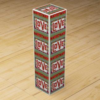 RASPBERRY RED LOVE SCRIPT QUOTE FUN Wine Gift Box