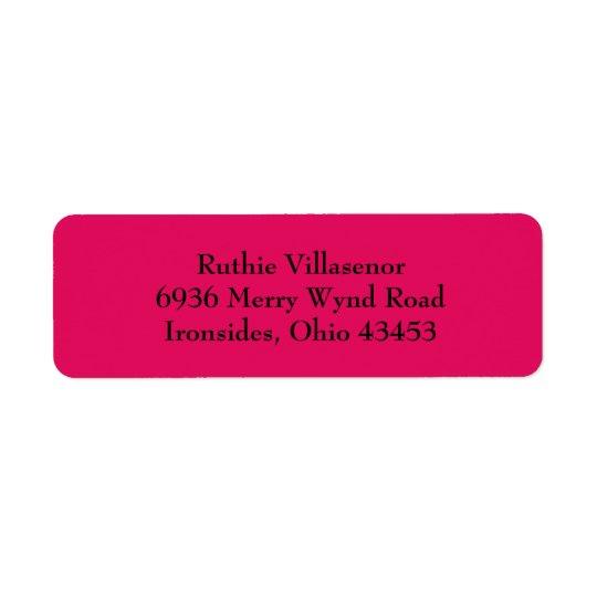 Raspberry Red Simple Plain Return Address Labels