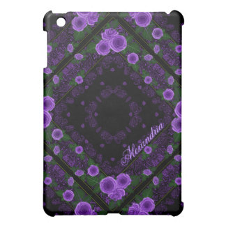 Raspberry Roses & Paisley Bandana Name Template Cover For The iPad Mini